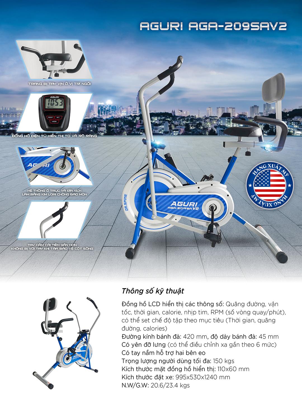 Tại sao nên mua xe đạp tập thể dục phục hồi chức năng AGA-209SAV2?